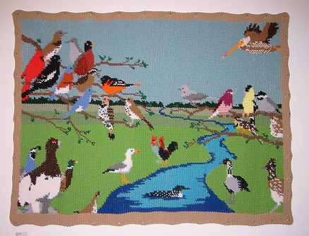 This piece of tapestry crochet was create by Rachelle Vasquez.