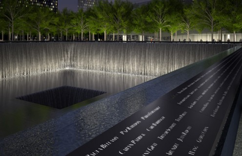Pool at World Trade Center Memorial