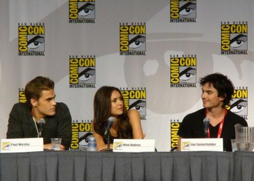 Paul Wesley, Nina Dobrev & Ian Somerhalder at ComicCon in San Diego, July 24, 2010.