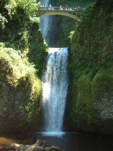 Multnomah Falls, Columbia River Gorge, our nation's second highest waterfalls
