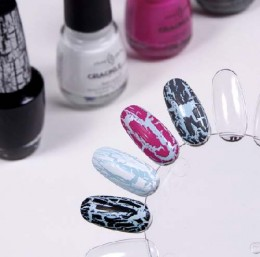 Crackle nail polish is one of the coolest nail polish shades. Choose Crackle nail polish for extravagant and different look of your toe and fingernails.