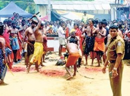 animal slaughter as the sacrifice in Sri Lanka