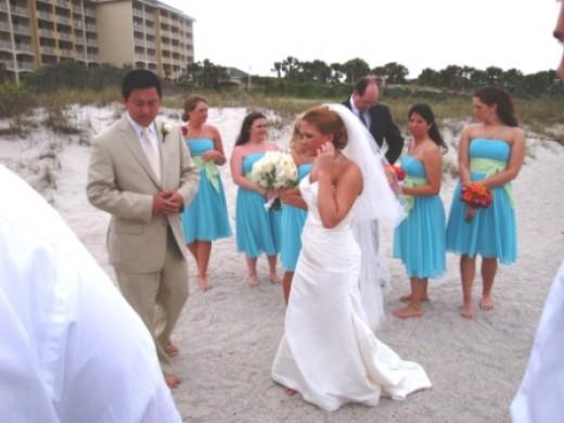 It was a beautiful wedding