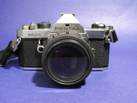 Pentax MX, Manual film based camera.