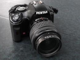 Pentax K-m, a modern digital D-slr camera.