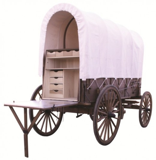 Authentic working covered chuck wagon