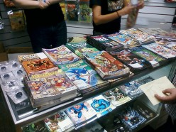 Youth comics display on Free Comic Book Day at Flying Colors, Concord
