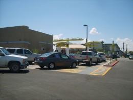 Long drive-thru lines at a fast food restaurant near Phoenix, AZ.