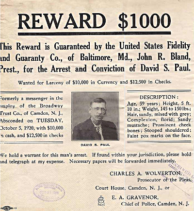 The reward poster grossly understimated the amount of money stolen