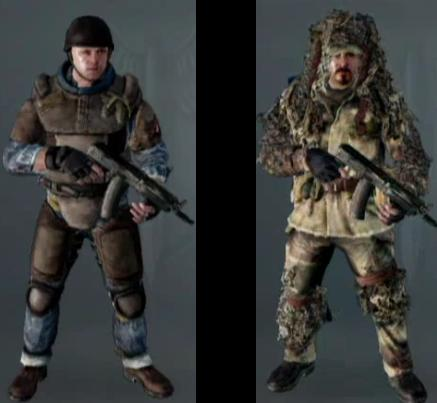 example of the difference. Flak Jacket on the left, Ghost on the right.