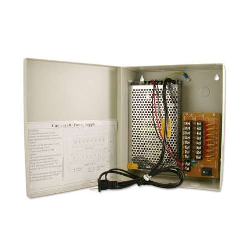 12v security camera power supply panel
