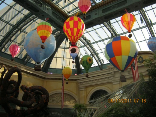 Pretty balloons looked like they were floating to the ceiling!