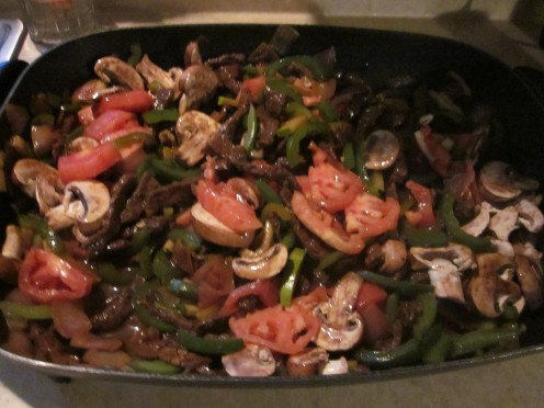 Add Tomatoes and Baby Bella Mushrooms