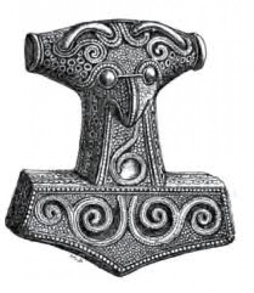 Mjollnir - Thor's Hammer amulet worn around the necks of Norsemen old and young