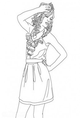 Taylor Swift Celebrity Coloring Pages and Free Colouring Pictures to Print and Colour