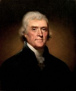 PRESIDENT THOMAS JEFFERSON, REPUBLICAN-DEMOCRAT