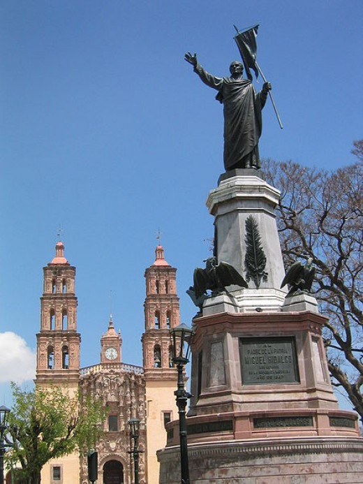 Statue of Father Hildago, Dolores Mexico