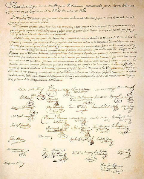 Act of independence 1821