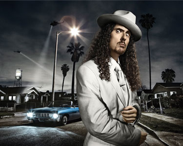 Weird Al getting down to funny business.