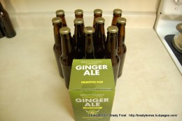 Finished batch of homebrew Ginger Ale.