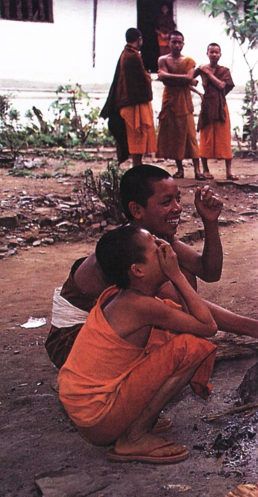 Young Buddhist monks in Luang Prabang, Laos
