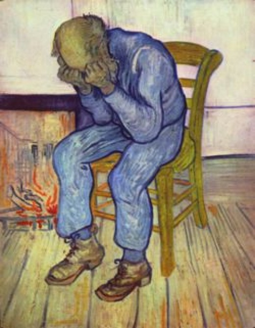 Vincent Willem van Gogh struggle with depression ended, sadly, with his suicide.
