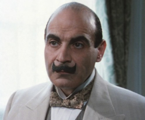 Hercule Poirot as played by David Suchet.