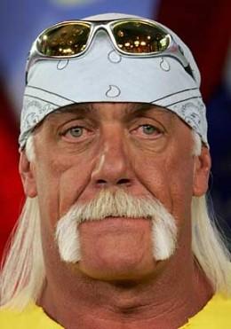 Hulk Hogan's blond mustache