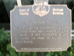 Historical plaque, Whitby Station Gallery