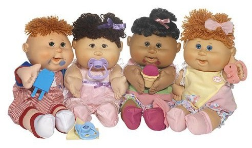 """""""Cabbage Patch"""" dolls."""