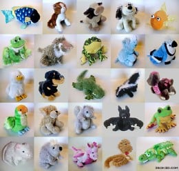 """Webkinz"" plush animals."