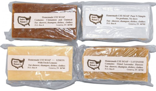 Four pack of Amish handmade lye soap.