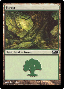 A forest land card