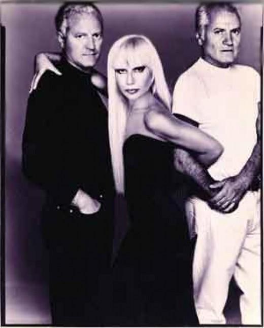 Gianni, Donatella, and Santo Versace