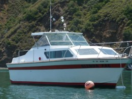 """28 ft cabin cruiser - Very small compared to """"normal"""" ocean boats/ships!"""
