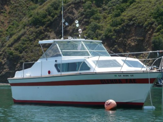 "28 ft cabin cruiser - Very small compared to ""normal"" ocean boats/ships!"