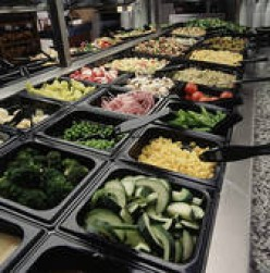 DELICIOUS, FRESH SALADS ARE JUST ONE OF THE MANY GREAT FOODS YOU CAN FIND ON MOST ALL-YOU-CAN-EAT-BUFFETS.