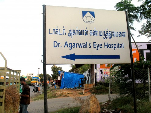 This Hospital is on the other side of the HOSUR Highway No.7.