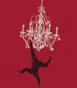 monkey swinging on chandelier