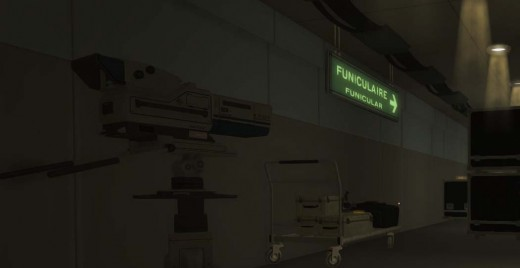 Deus Ex Human Revolution Beyond the Desk Workstation 1 - the Funicular Sign