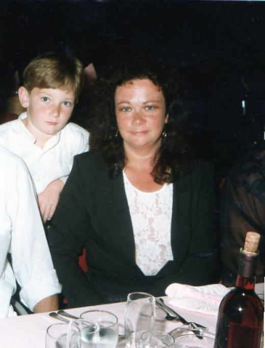 My son and I in Majorca 1998