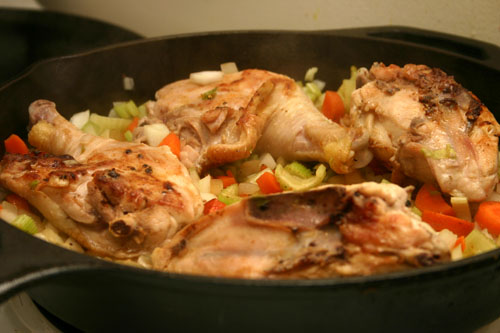 cooking for chicken and dumplings