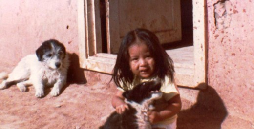 Rachelle, the darling Navaho child who inspired my poem.