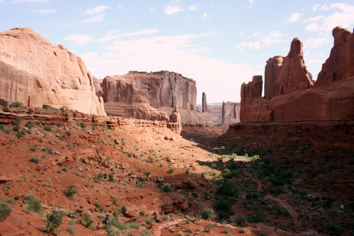 A popular view in Arches National Park. Moab, Utah