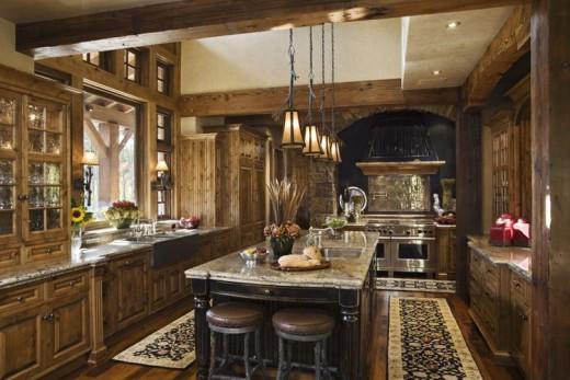 Интерьер кухни.
