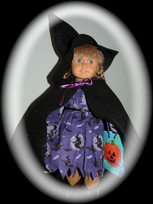 Doll in Halloween costume to illustrate a Hub about Halloween costumes.