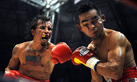 The feisty Edwin Valero in your left.
