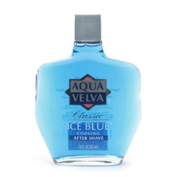 ICE BLUE AQUA VELVA MADE ME SMELL LIKE A MAN OF THE WORLD WHEN I FIRST LEARNED HOW TO SHAVE.