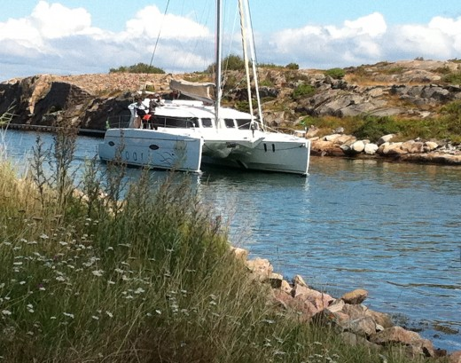 One of the more spectacular boats on Soten Kanalen (Soten Channel)  2011, a catamaran!
