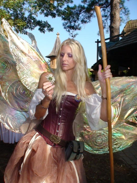 Costumed characters appear every year at the Texas Renaissance Festival from fairies...
